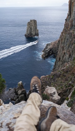 Cape Hauy is the first of the Three Capes walk (only actually two capes) and according to our Tasmanian local Cape Hauy is the closest and the most amazing view. The cliffs at the end are insane and the feeling of vertigo is inescapable.