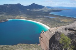 Another cool spot we found on the east coast of Tasmania. Known as Wineglass Bay from its shady past where whalers would herd whales into the bay and slaughter them leaving the bay looking redder than a Gibbston Valley pinot noir.
