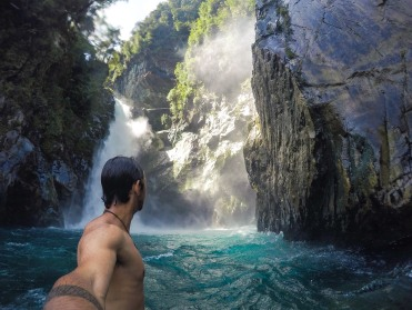 feel like freezing your nuts off? check out Hidden Falls in Milford Sounds