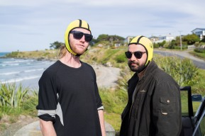 Yellow was the favourite colour of the weekend. The surfing Blues Brothers doing what they do best. Did I mention we learnt how to tandem SUP and took the dog surfing..